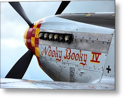 P51's Heart Metal Print by Remy NININ
