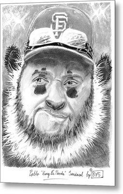 Pablo Kung Fu Panda Sandoval Metal Print by Bas Van Sloten
