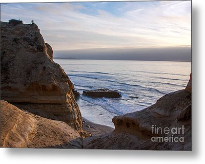 Pacific Ocean View From Above Cliffs Metal Print by Darleen Stry