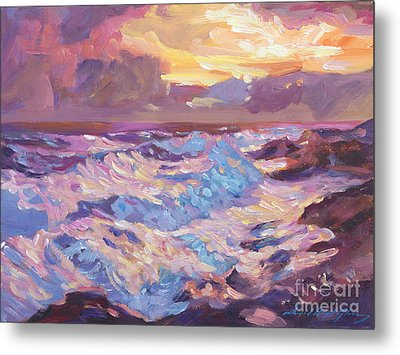 Pacific Shores Sunset Metal Print by David Lloyd Glover
