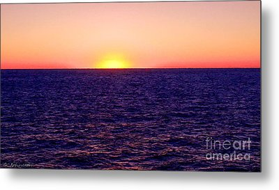 Pacific Sunset Off Laguna Beach Metal Print by Bob and Nadine Johnston