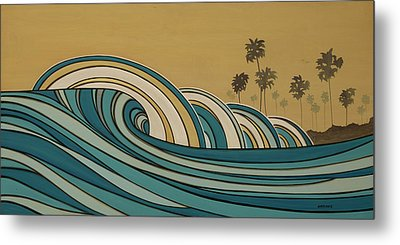 Paddle Out Metal Print by Joe Vickers