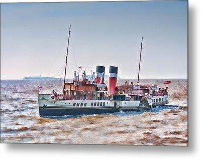 Paddle Steamer Waverley Metal Print by Steve Purnell