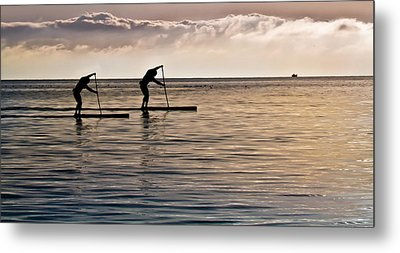 Paddle Surfing Metal Print by Eva Kondzialkiewicz