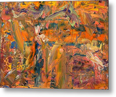 Paint Number 45 Metal Print by James W Johnson