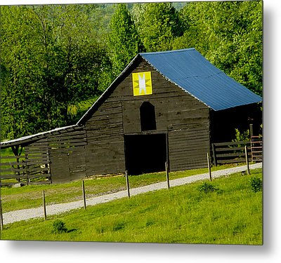 Painted Barn Quilt Two Metal Print by Robert J Andler