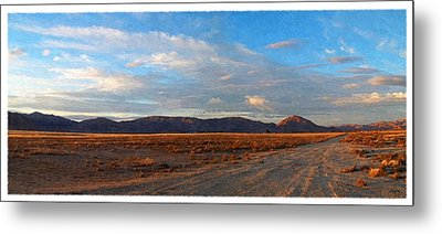 Painted Golden Sunset Metal Print by Glenn McCarthy Art and Photography