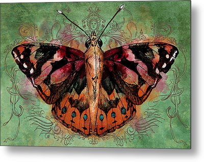 Painted Lady Metal Print by April Moen