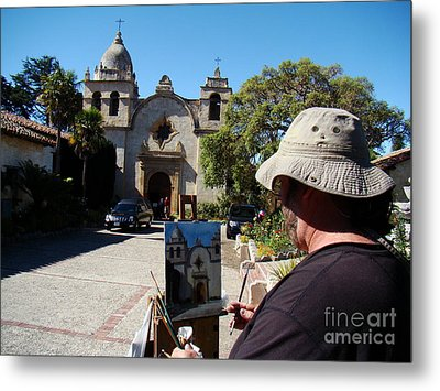 Painting The Mission Metal Print by Eva Kato