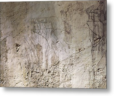 Painting West Wall Tomb Of Ramose T55 - Stock Image - Fine Art Print - Ancient Egypt Metal Print by Urft Valley Art