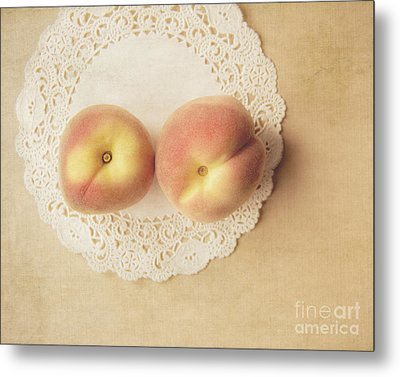 Pair Of Peaches Metal Print by Jillian Audrey Photography