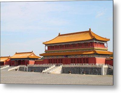 Palace Forbidden City In Beijing Metal Print by Thanapol Kuptanisakorn