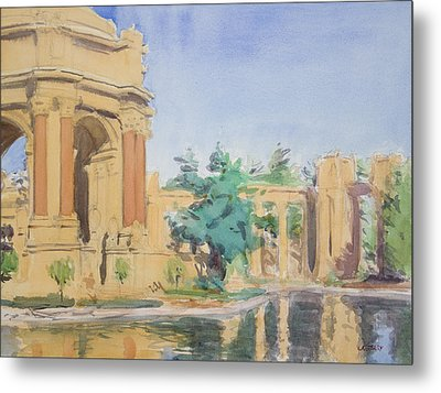 Palace Of Fine Arts Metal Print by Walter Lynn Mosley