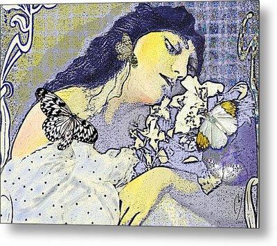 Pale April Metal Print by Maria Jesus Hernandez