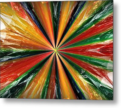 Palette Wheel Metal Print by Janet Russell