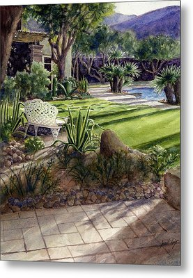 Palm Springs Backyard Metal Print by Janet King