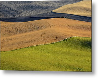 Palouse Abstract Metal Print by Latah Trail Foundation