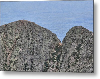 Pamola And Chimney Peaks Metal Print by Lori Deiter