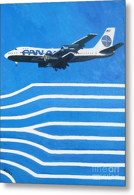 Pan Am Clipper Metal Print by Lesley Giles