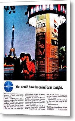 Pan Am To Paris Metal Print by Benjamin Yeager