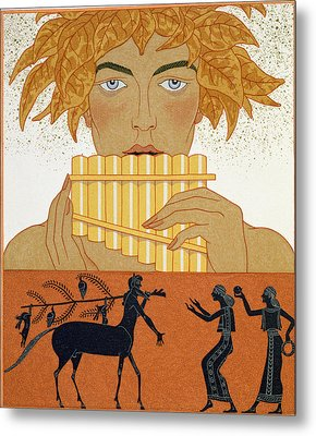 Pan Piper Metal Print by Georges Barbier