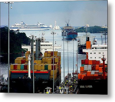 Panama Express Metal Print by Karen Wiles