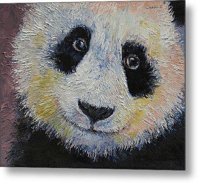 Panda Smile Metal Print by Michael Creese