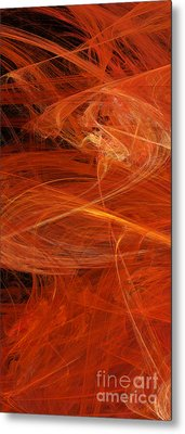 Panel 1 Of 5 Dancing Flames 2 H Pentaptych - Abstract - Fractal Art Metal Print by Andee Design
