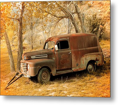 Panel Truck Metal Print by Leland D Howard