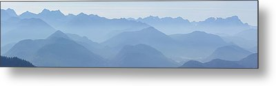 Panorama View Of The Bavarian Alps Metal Print by Rudi Prott