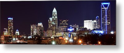 Panoramic Charlotte Night Metal Print by Frozen in Time Fine Art Photography