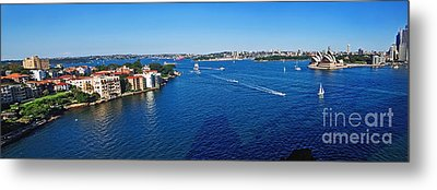 Panoramic Sydney Harbour Metal Print by Kaye Menner