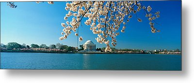 Panoramic View Of Jefferson Memorial Metal Print by Panoramic Images