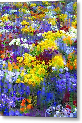 Pansy Party Metal Print by Jessica Jenney