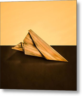Paper Airplanes Of Wood 2 Metal Print by Yo Pedro