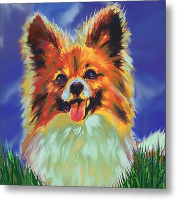 Papillion Puppy Metal Print by Jane Schnetlage