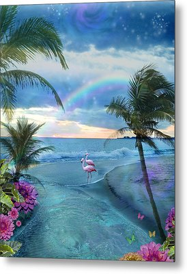 Paradise Ocean Metal Print by Alixandra Mullins