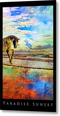 Paradise Sunset Metal Print by Betsy C Knapp