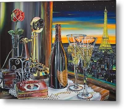 Paris At Sunset Metal Print by Anthony Mezza