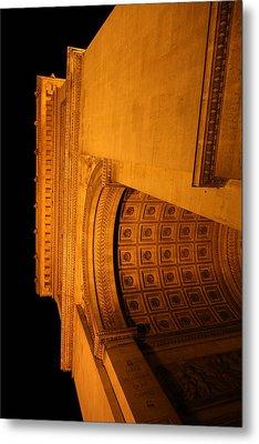 Paris France - Arc De Triomphe - 01132 Metal Print by DC Photographer