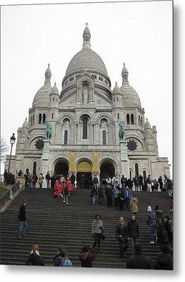 Paris France - Basilica Of The Sacred Heart - Sacre Coeur - 12126 Metal Print by DC Photographer