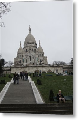 Paris France - Basilica Of The Sacred Heart - Sacre Coeur - 12128 Metal Print by DC Photographer
