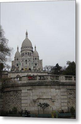 Paris France - Basilica Of The Sacred Heart - Sacre Coeur - 12129 Metal Print by DC Photographer