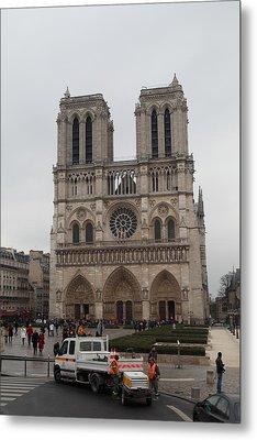 Paris France - Notre Dame De Paris - 011312 Metal Print by DC Photographer