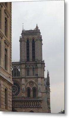 Paris France - Notre Dame De Paris - 01132 Metal Print by DC Photographer