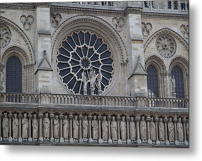 Paris France - Notre Dame De Paris - 01137 Metal Print by DC Photographer