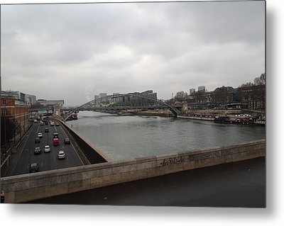 Paris France - Street Scenes - 011386 Metal Print by DC Photographer