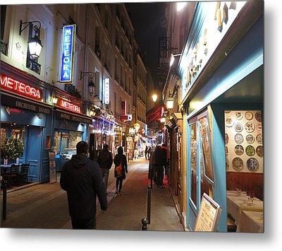 Paris France - Street Scenes - 12122 Metal Print by DC Photographer