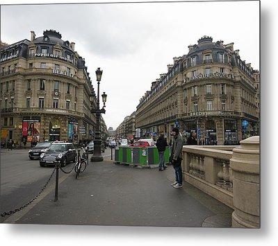 Paris France - Street Scenes - 121247 Metal Print by DC Photographer