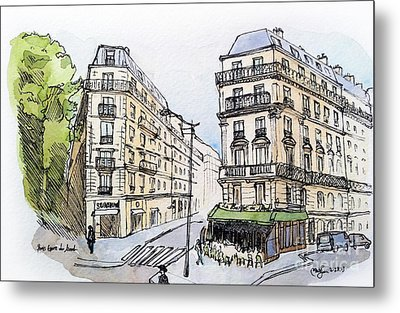 Paris Gare Du Nord Metal Print by Marie Minyoung Jeon